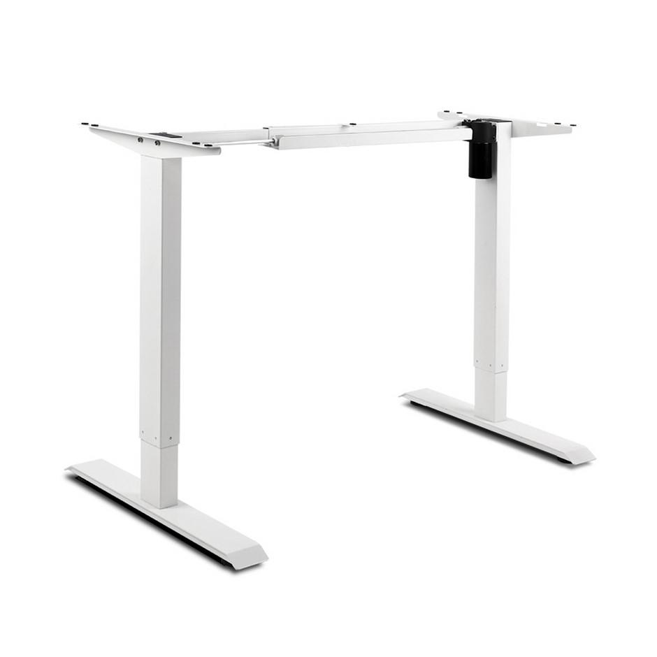 Motorised Height Adjustable Standing Desk Frame - White