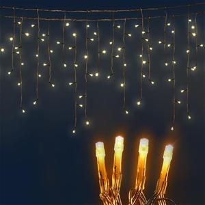 Jingle Jollys 500 Icicle Lights - Warm W