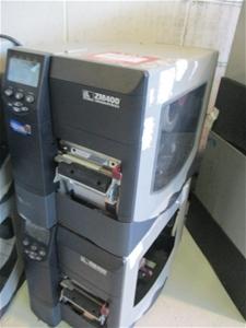 2 x Zebra ZM400 Label Printers