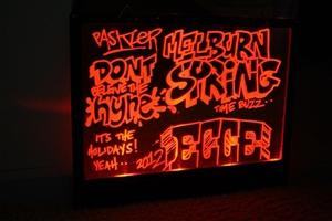 Multi Coloured LED Illuminated Message Board Auction