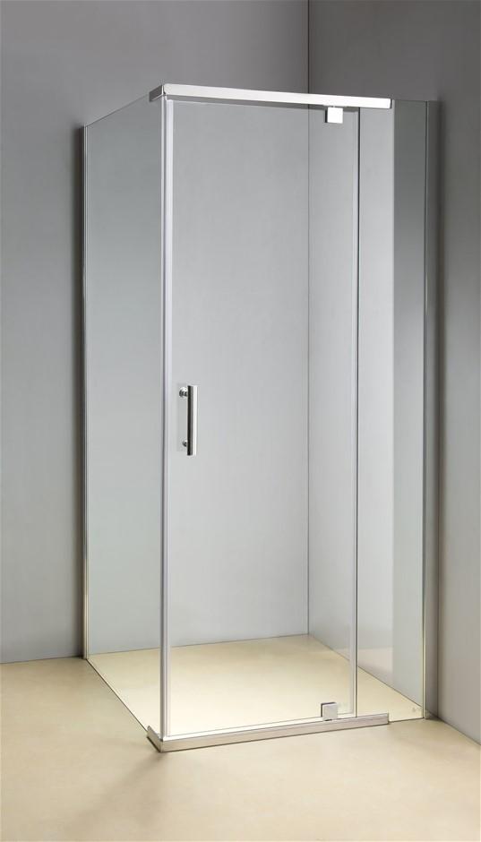 Shower Screen 900x900x1900mm Framed Safety Glass Pivot Door