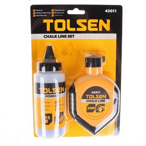 TOLSEN 2pc Chalk Line Set, Comprising; C