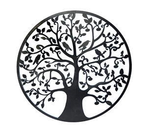 Black Tree of Life Wall Art Hanging Meta