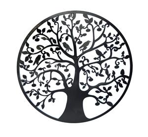 Black Tree of Life Wall Art Hanging Meta