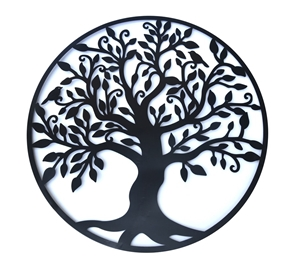 Buy Black Tree Of Life Wall Art Hanging Metal Iron