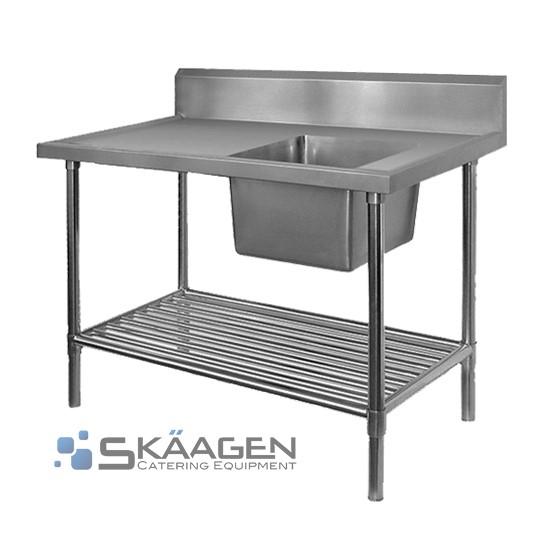 Unused Single Right 2400 x 600 Stainless Steel Sink FSA-1-2400R