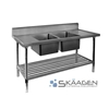 Unused Double Centre 2200 x 600 Stainless Steel Sink FSA-2-2200C