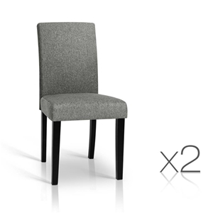 Artiss Set of 2 Fabric Dining Chairs - G