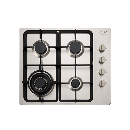 Euro 60cm S/S 4 burner gas cook top with side control knobs,Model:EV3WCTSFD