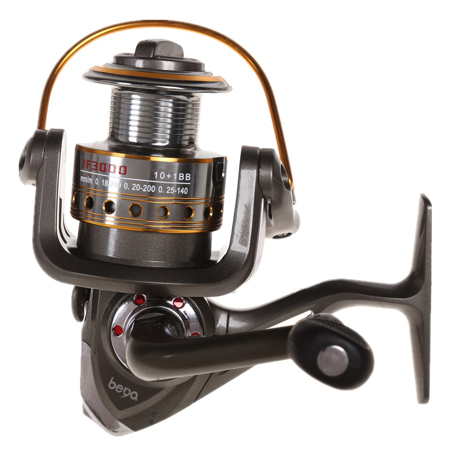 Fishing Reel 10+1BB Gear Ratio 5.0:1 Line Capacity 0.18/240, 0.2/200 & 0.25