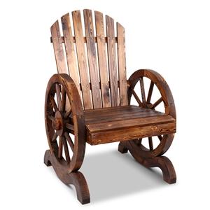 Gardeon Wagon Wheels Single Chair - Brow