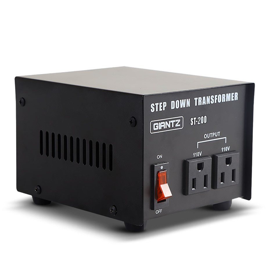 240v 110v Stepdown Transformer Converter 200w Black