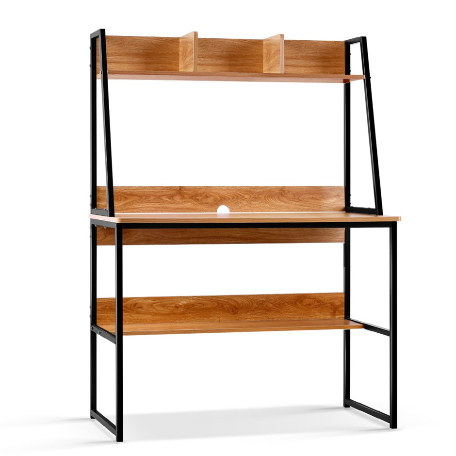 Artiss Hugo Computer Desk - Black and Wood