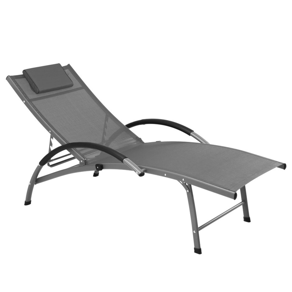 Gardeon Outdoor Recliner Lounge - Grey