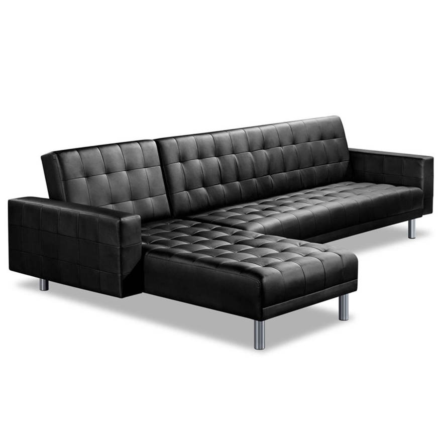 Artiss Pu Leather 4 Seater Sofa Bed