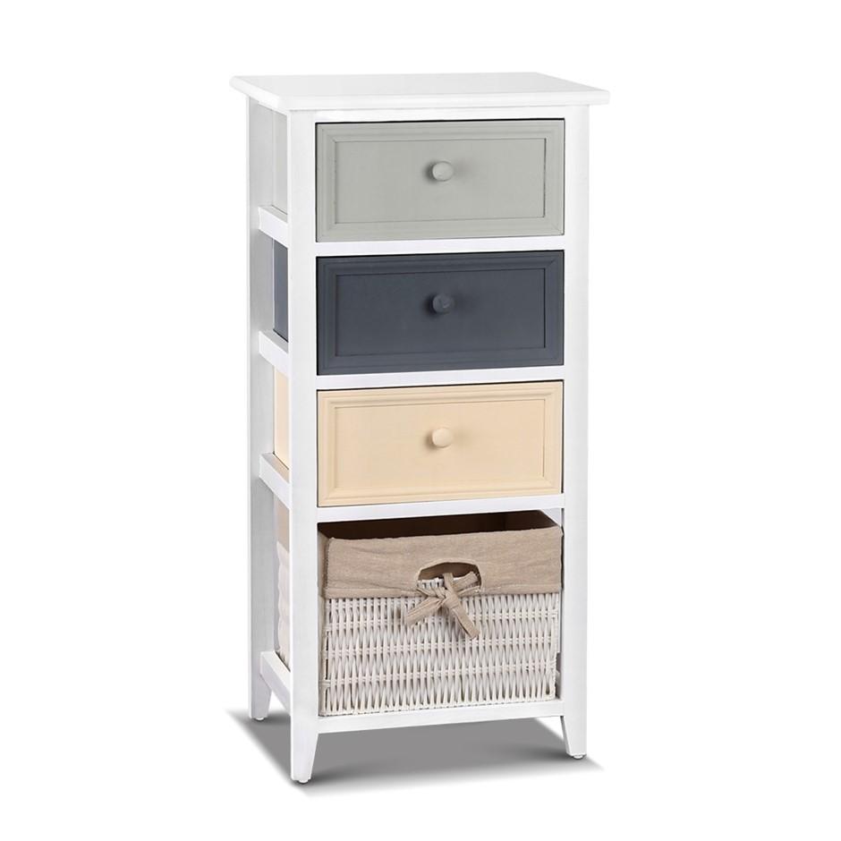 Artiss 4 Drawers Storage Dresser - White