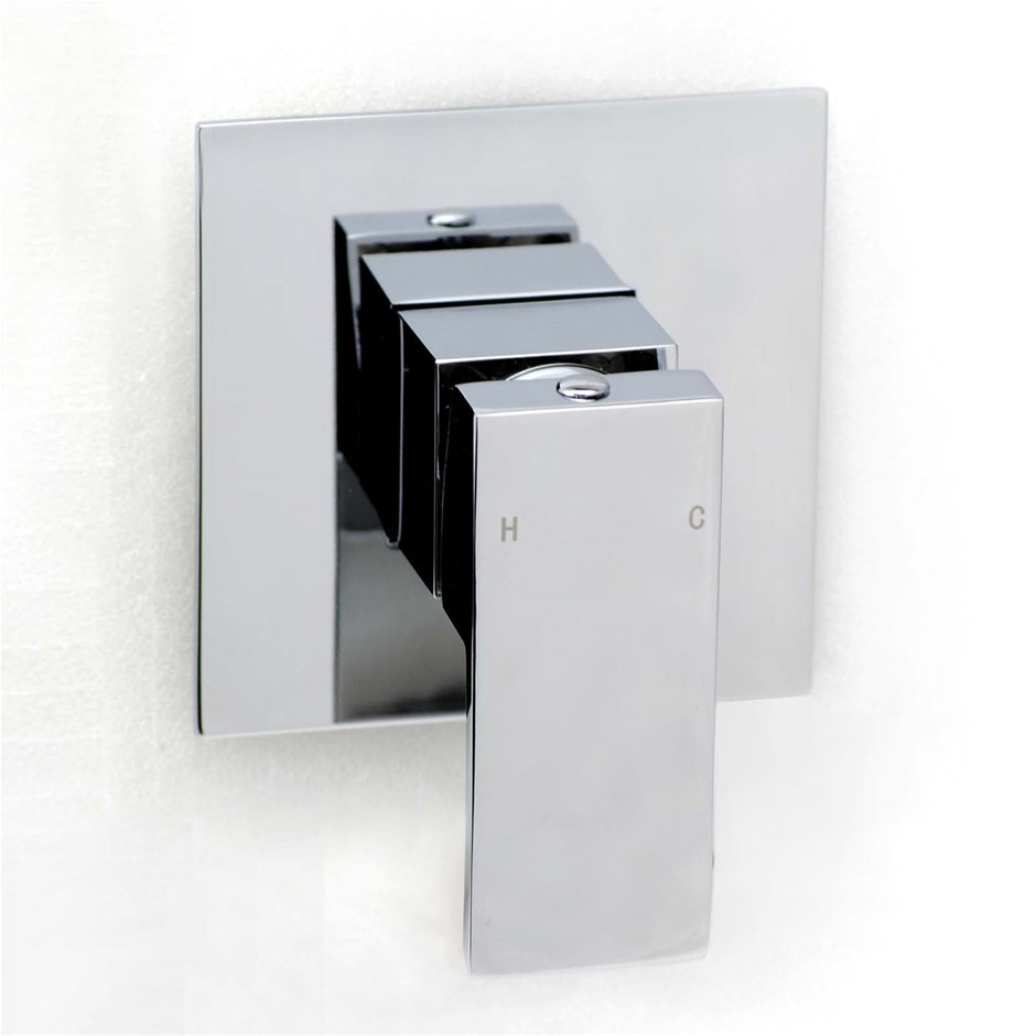 Square Chrome Wall Built-in Shower/Spout Mixer Tap Watermark Certificate