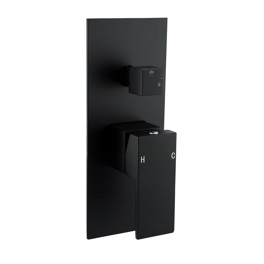 Buy Square Black Shower/Bath Spout Mixer Tap With Diverter