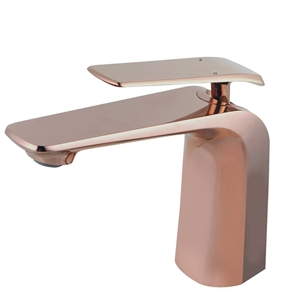 Eden Rose Gold Basin Mixer Tap Brass Fau