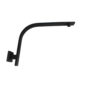 Square Black Wall Mounted Shower Arm(304