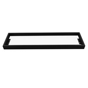 Bathroom Square Matt Black Glass Shelf H