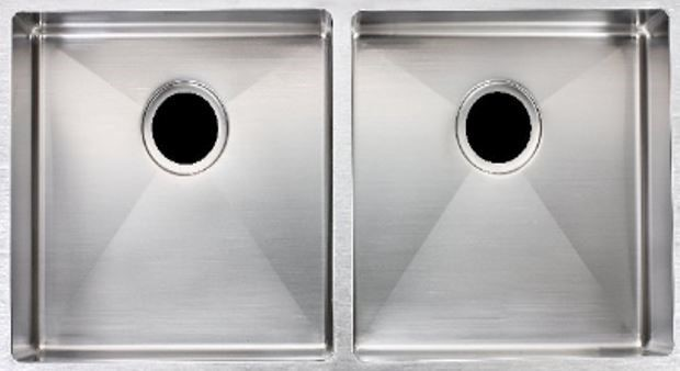 Double Bowl, 304 Stainless Steel Kitchen Sink Round corner