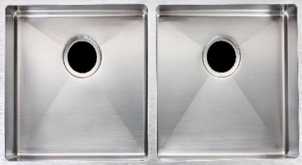 Double Bowl, 304 Stainless Steel Kitchen Sink Round corner