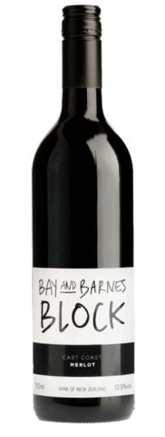 Giesen `Bay & Barnes Block` Merlot 2018 (6 x 750mL), East Coast, NZ.