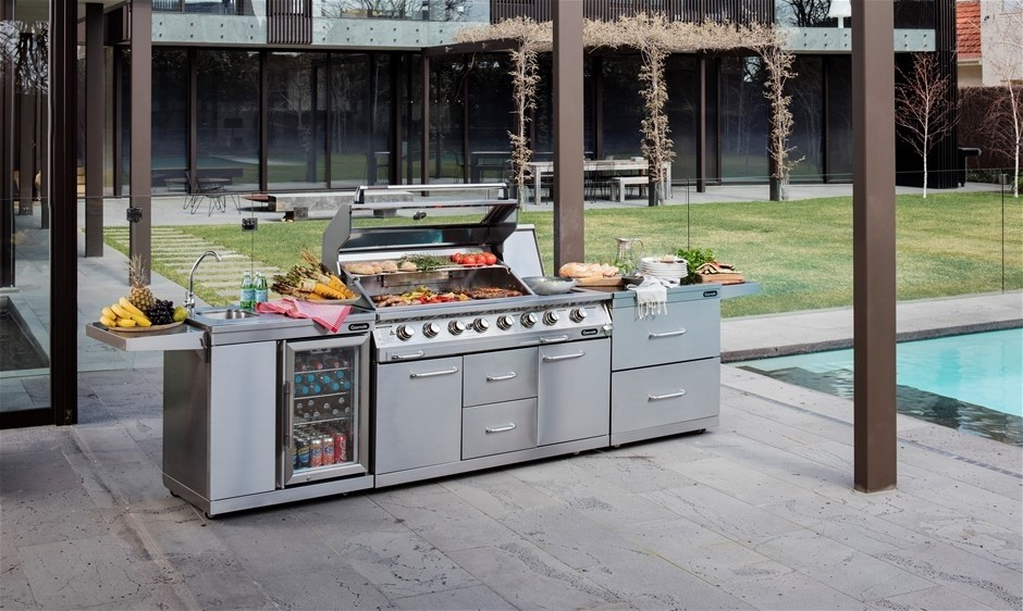 316 Stainless Steel Bbq New Gasmate Platinum Professional 6 Burner Outdoor Kitchen