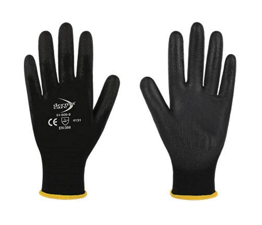24 Pairs x DERMA CARE Multi-Purpose Light Weight Gloves Size L, Machine Kni