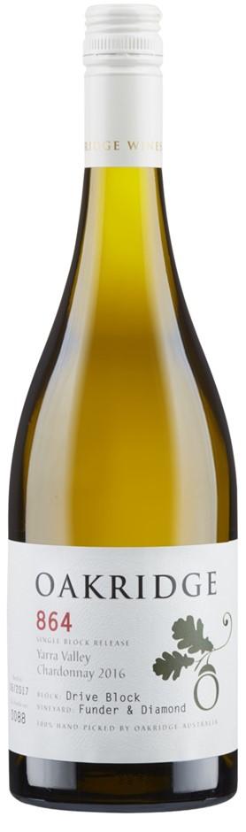 Oakridge 864 Funder &Diamond Chardonnay (6 x 750mL), Yarra Valley, VIC.