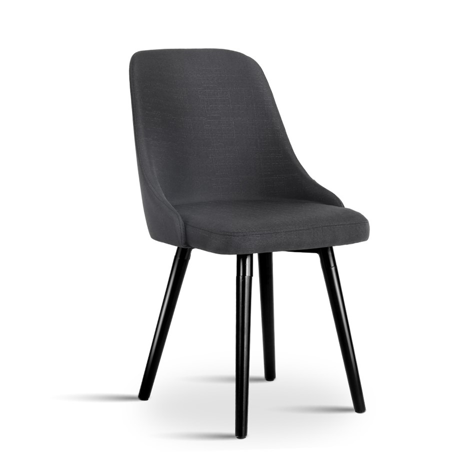 Artiss Set of 2 Kalmar Dining Chair - Charcoal
