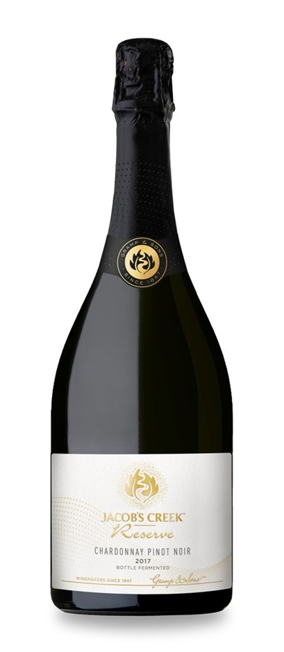 Jacob's Creek `Reserve` Sparkling Chardonnay Pinot 2017 (6 x 750mL), SE AUS