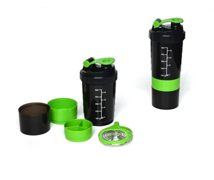2x Protein Gym Shaker 3 in 1 Smart Style