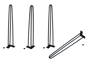 Set of 4 Industrial Retro Hairpin Table
