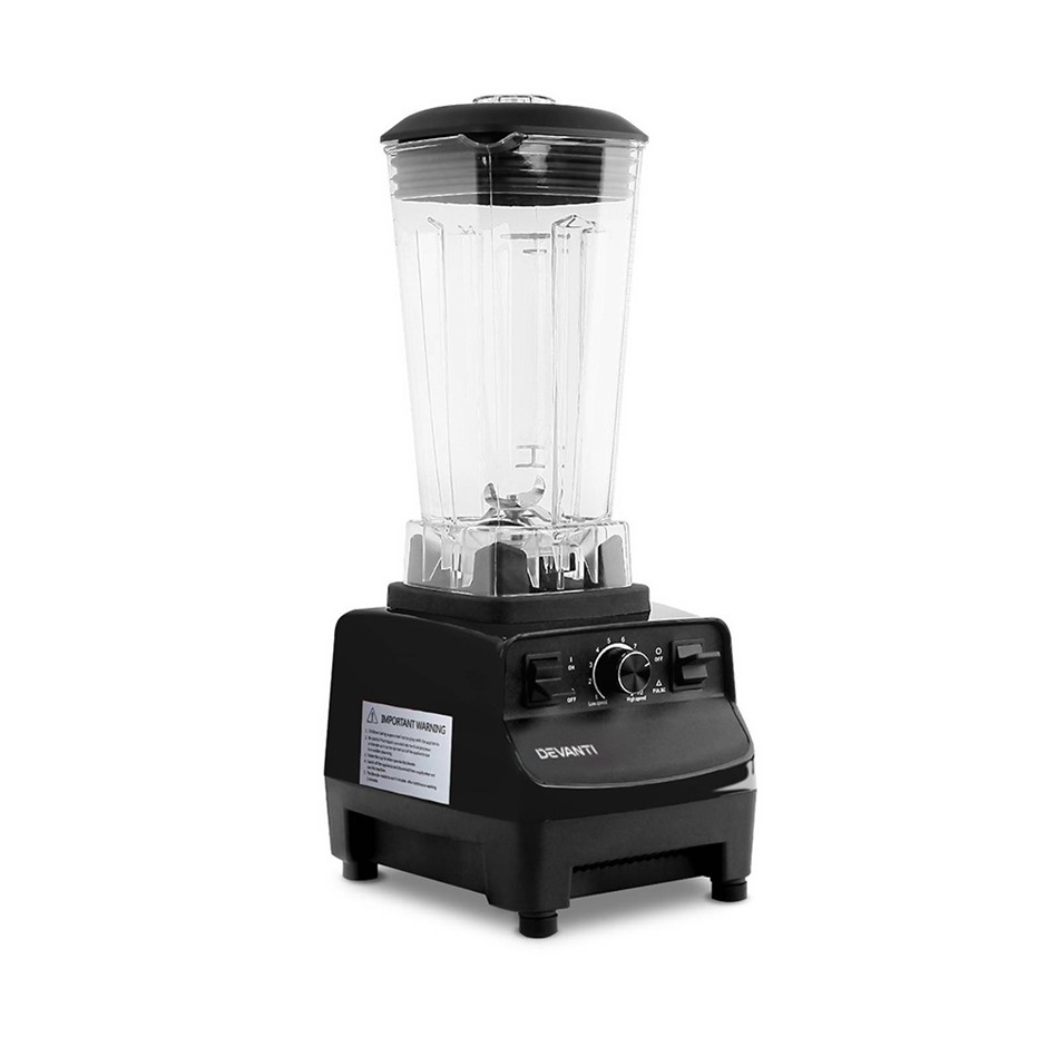 5 Star Chef Commercial Food Processor Blender - Black