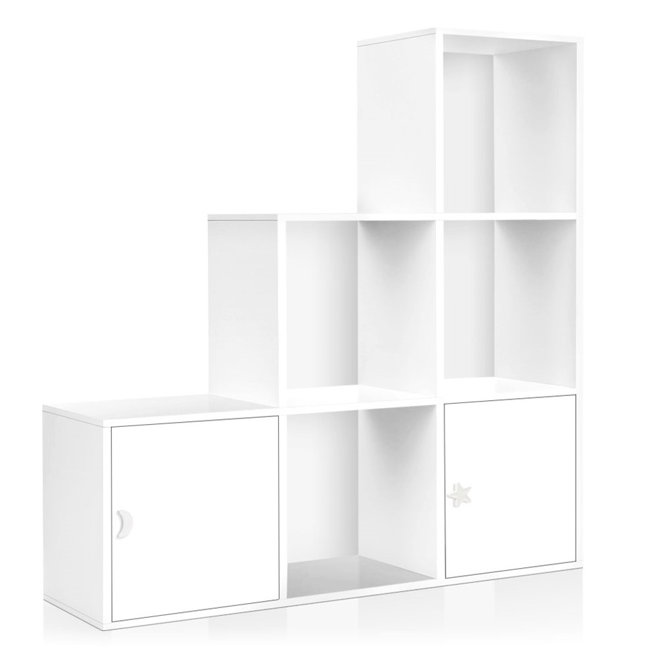 Artiss 6 cube display bookshelves 2 doors storage cabinet kids stand