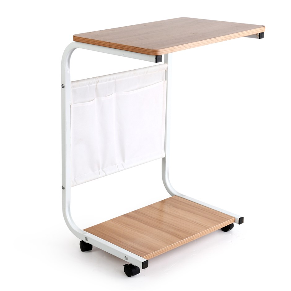 Portable Wooden Laptop Computer PC Desk Study Bedside Table Office Stand