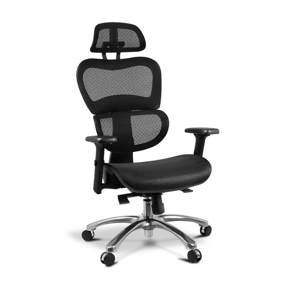 Artiss Executive Deluxe Office Mesh Chair Black Seat