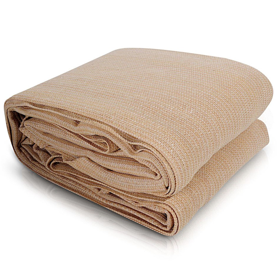Instahut Sun Shade Sail Cloth Shadecloth Rectangle Sand Canopy 2x4m