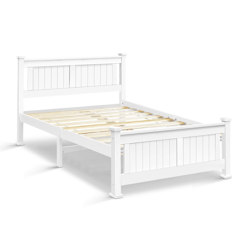 Artiss Queen Wooden Timber Bed Frame RIO Kids Adults Mattress Base Size