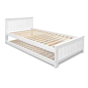 Artiss King Single Wooden Timber Bed Fra