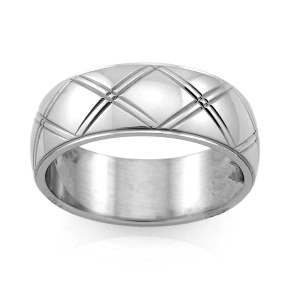 Stainless Steel Ring - Ring Size : P