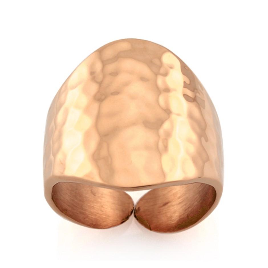 Ladies Stainless Steel Ring - Ring Size : N