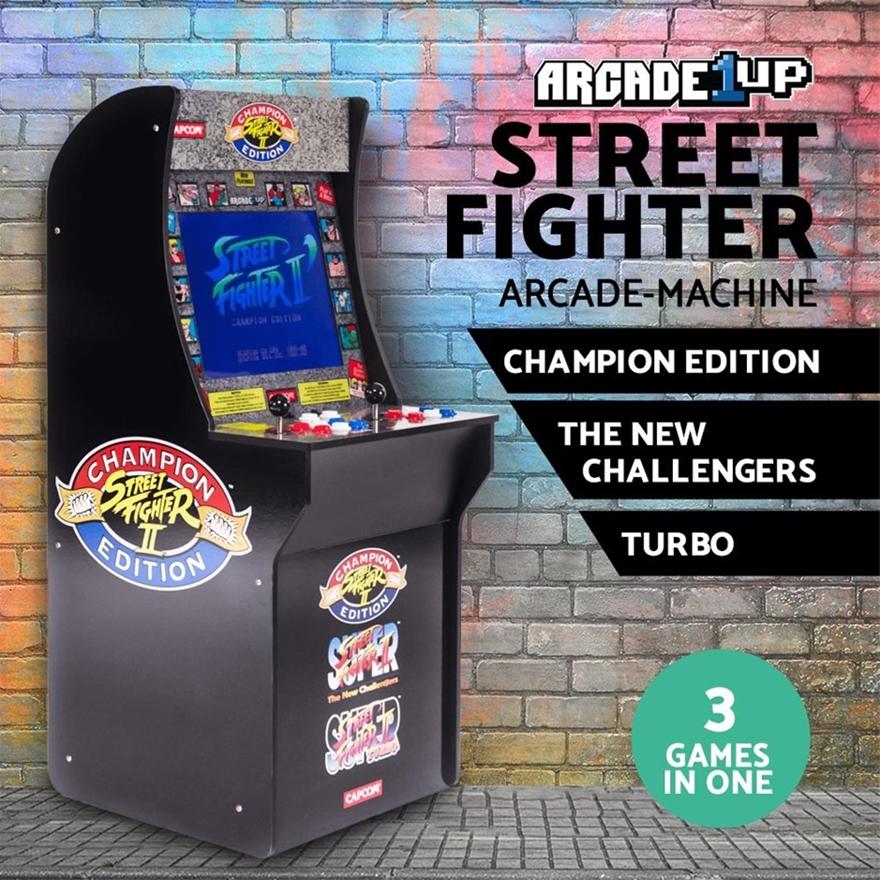 Buy Street Fighter Retro Arcade Machine Arcade1up Game 3 Games In