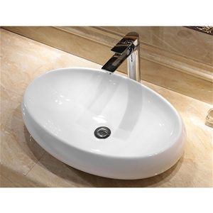 600 x 400 x 155mm Bathroom Oval Above Co