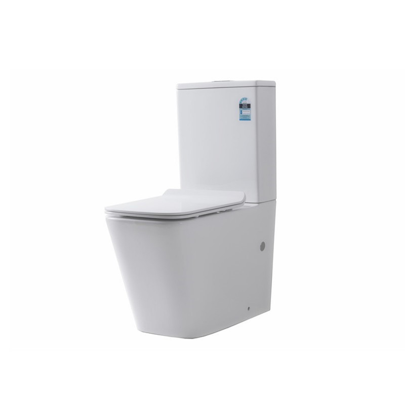 630 x 360 x 810mm Bathroom Rimless Back To Wall White Ceramic Toilet Suite