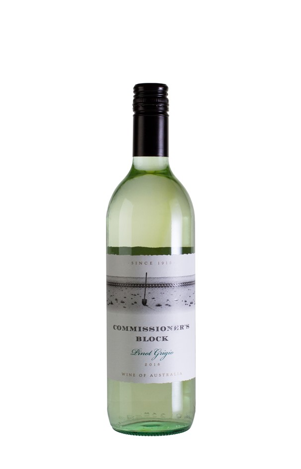 Commissioners Block Pinot Grigio 2018 (12 x 750mL) SEA