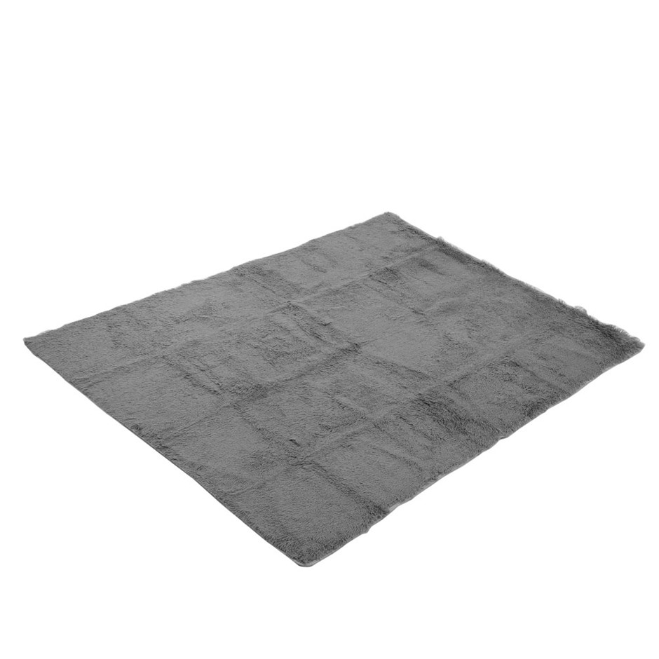 Artiss Soft Shaggy Rug 160x230cm Large Floor Carpet Anti-slip Rugs Grey