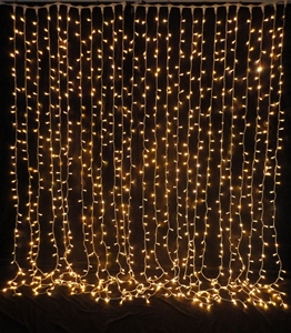 925 Lights Led Curtain Drop Warm White Auction